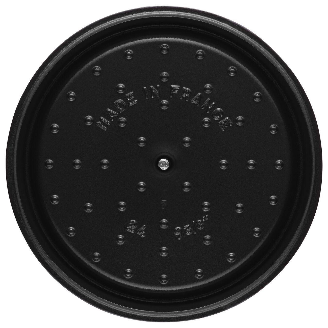 Cocotte 24 cm, Rond(e), Bordeaux, Fonte,,large 6