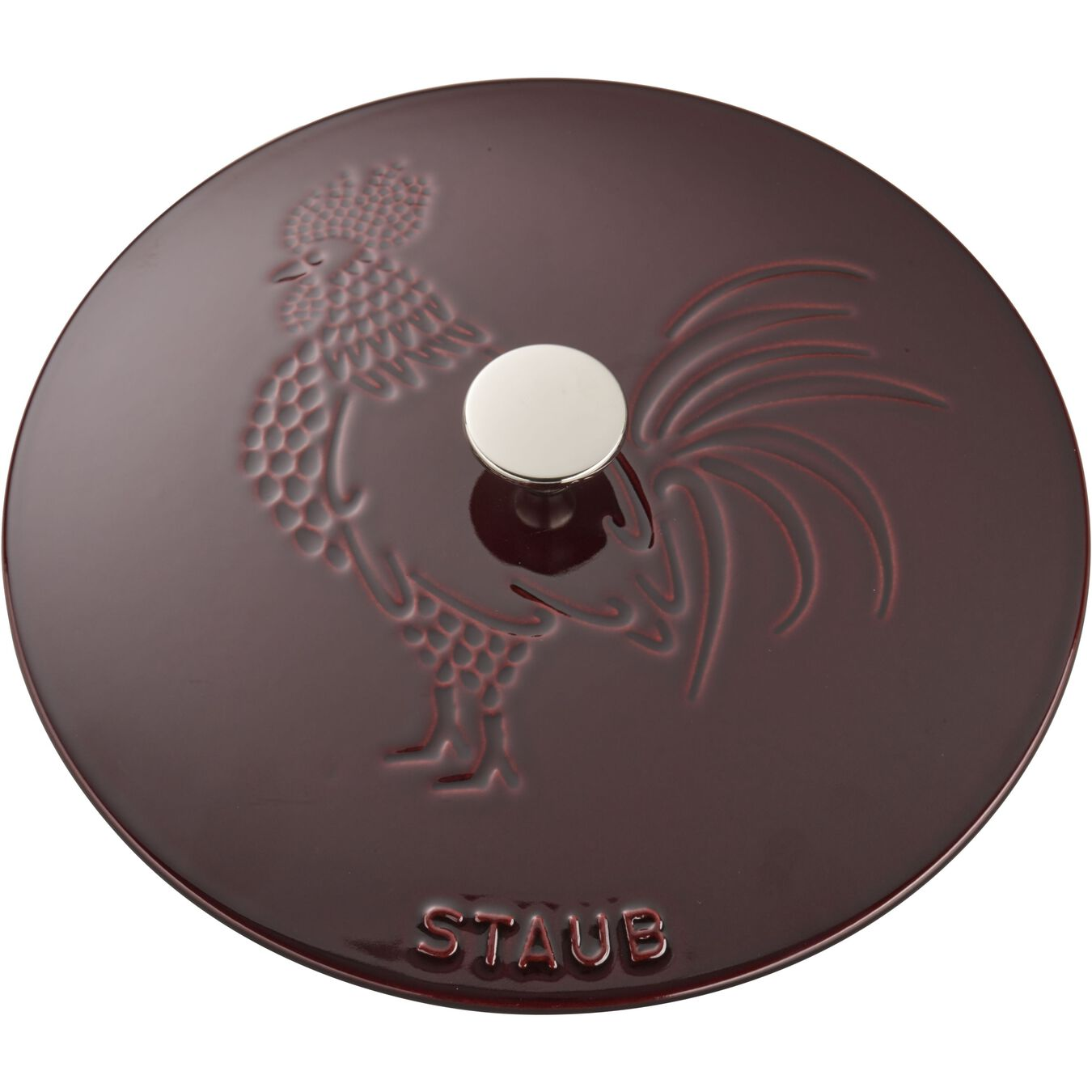 3.75 qt, Essential French Oven Rooster Lid, grenadine,,large 10