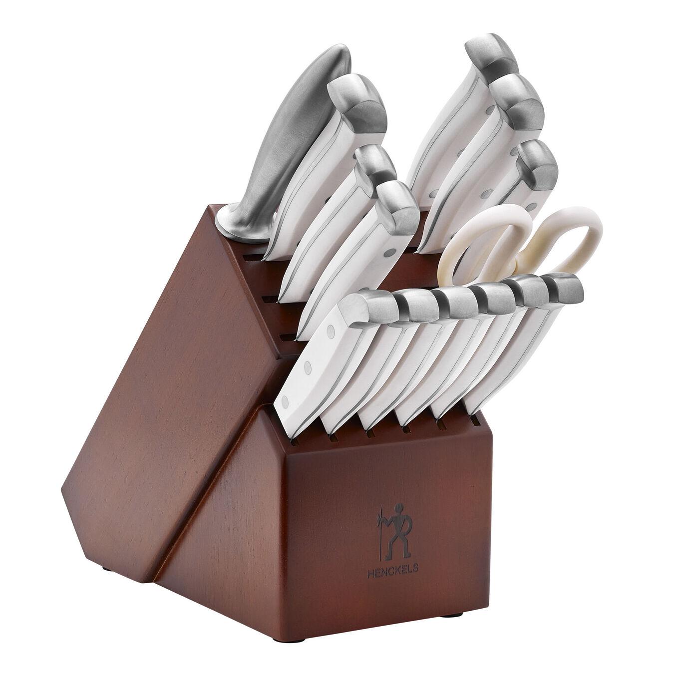 15-pc, Knife block set, white,,large 1