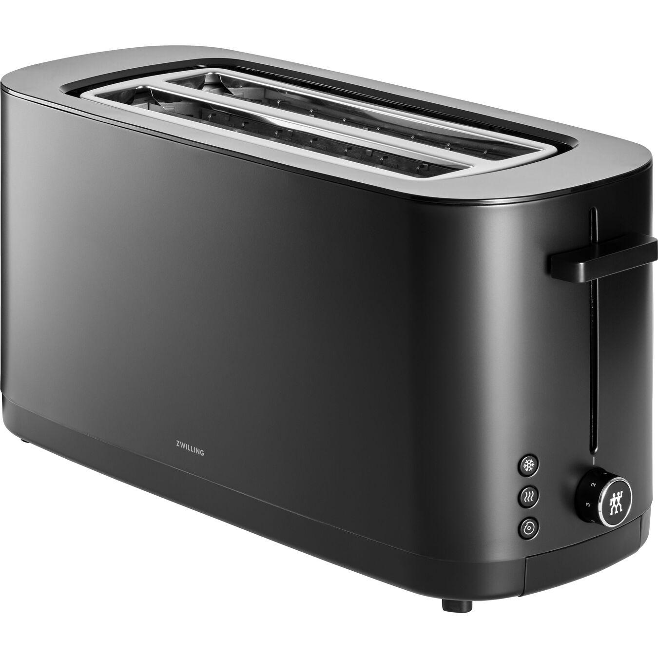 Toaster, 2 Schlitze lang, Schwarz,,large 1