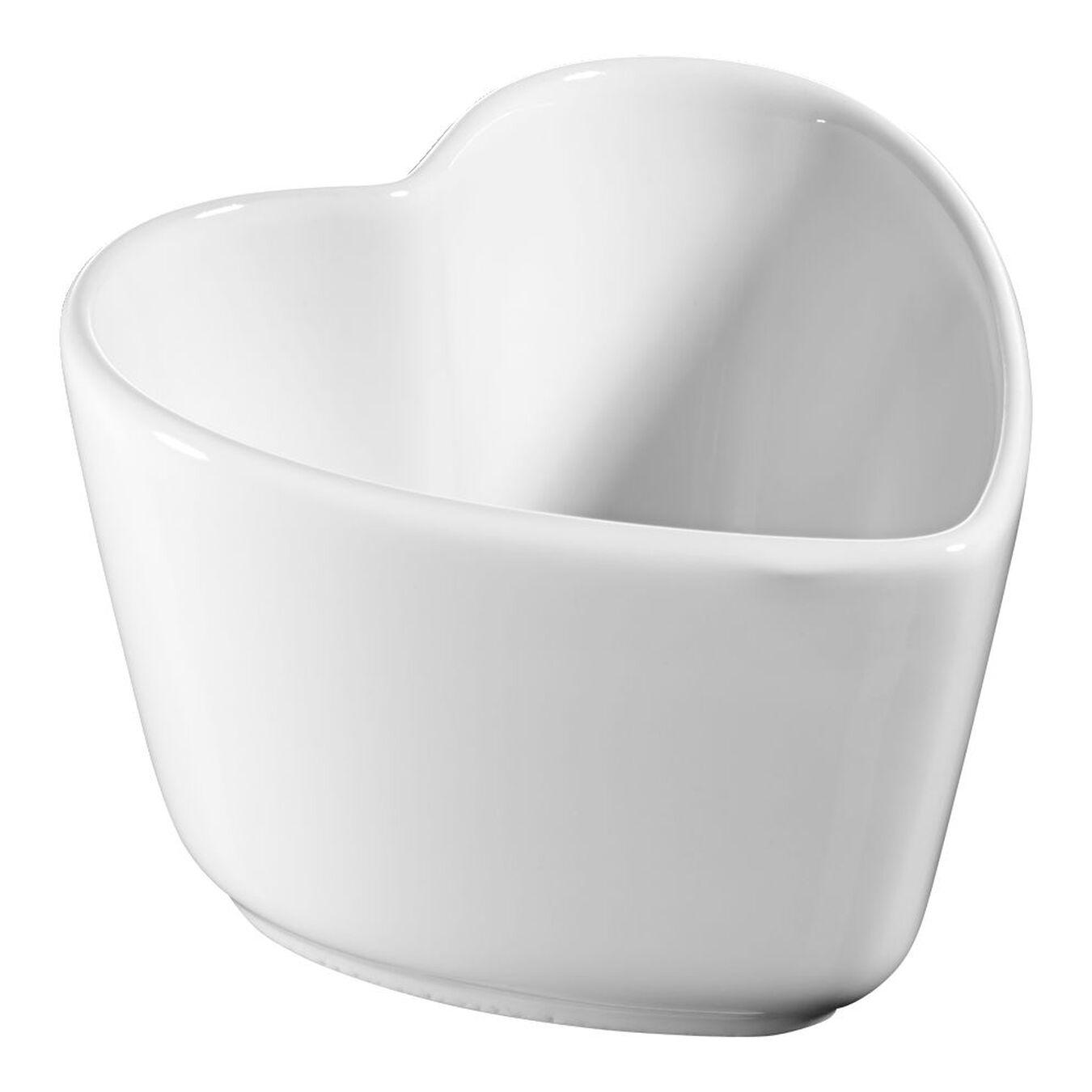 Sufle Kabı Seti, 2-parça | Beyaz | Seramik | Kalp | Seramik,,large 1