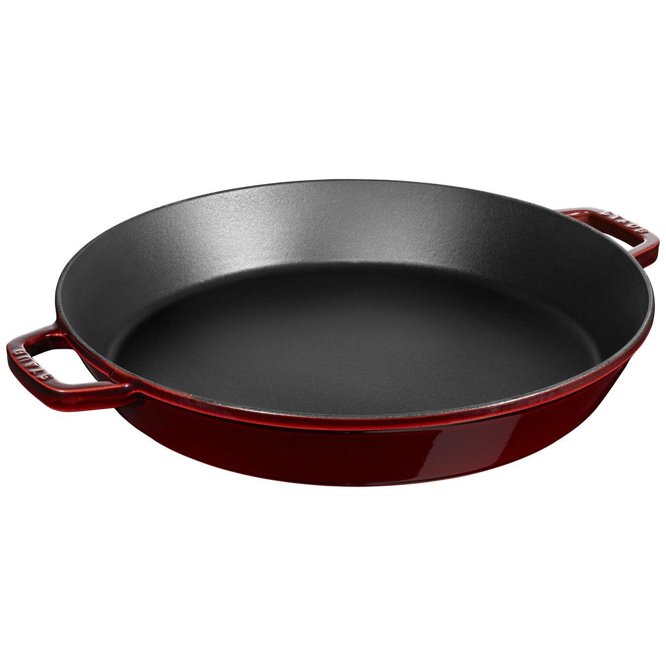 15-inch Double Handle Fry Pan / Paella Pan - Grenadine,,large 1
