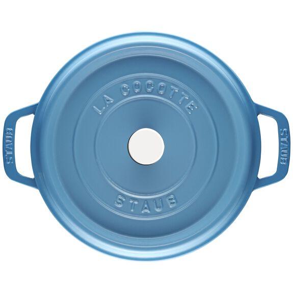 4-qt round Cocotte, Ice-Blue,,large 3