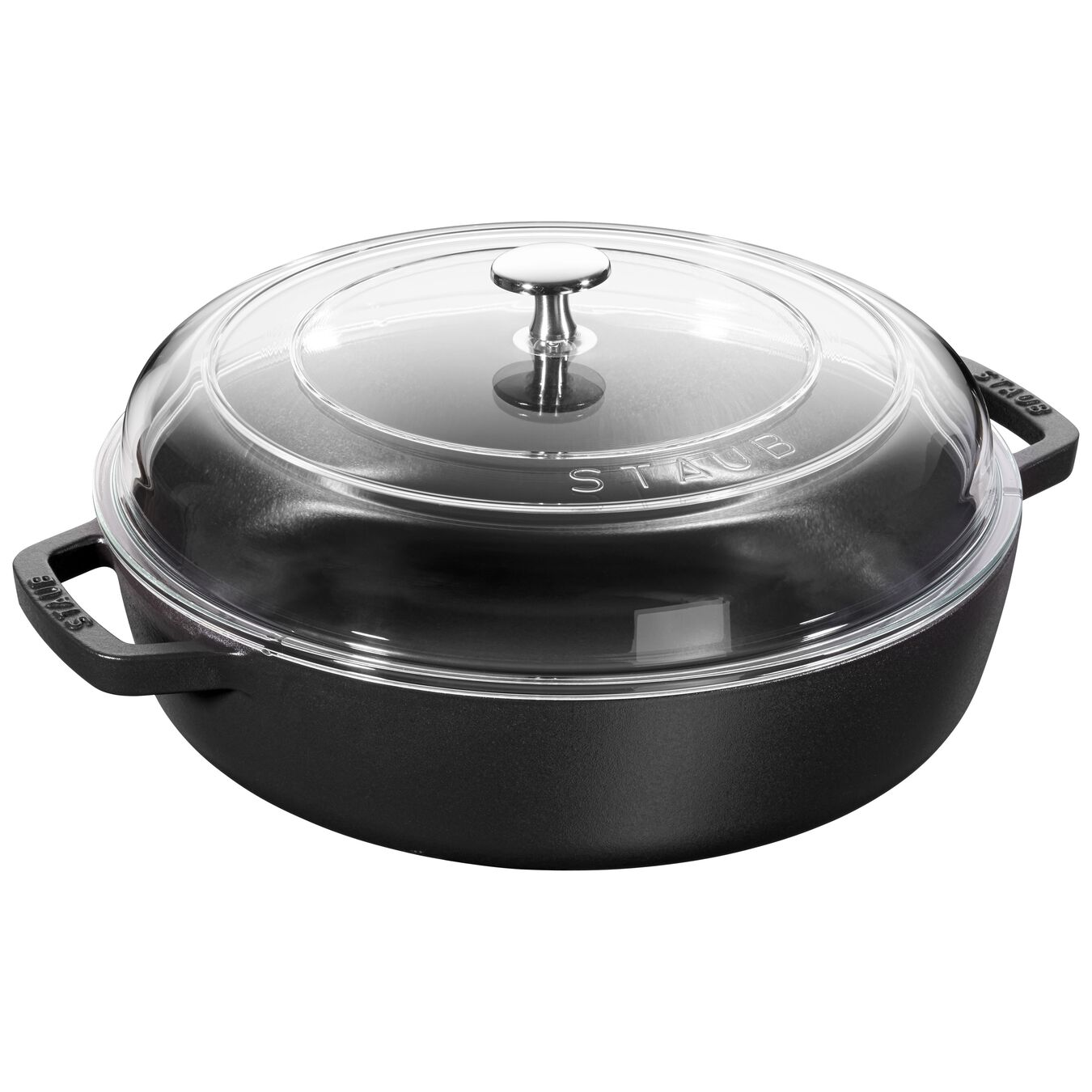 Sauteuse with glass lid 28 cm,,large 1