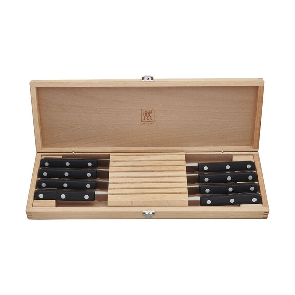 8-pc Steak Knife Set with Wood Case,,large 2