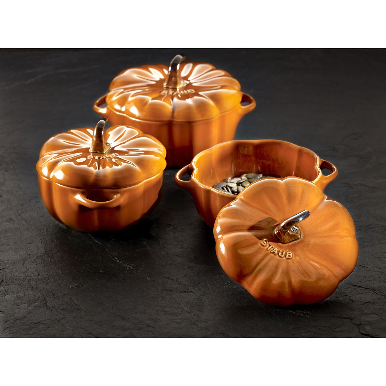 16-oz Petite Pumpkin Cocotte - Burnt Orange,,large 4