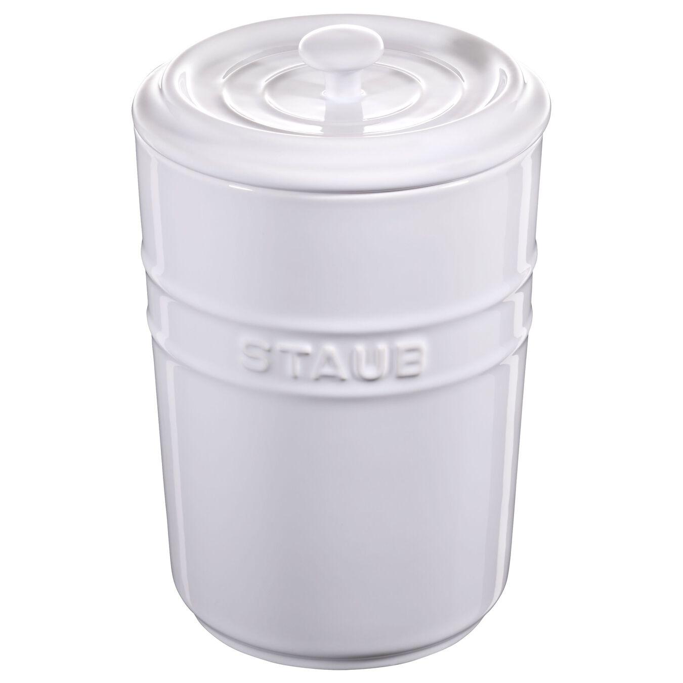 1.5 l Storage pot, pure-white,,large 1