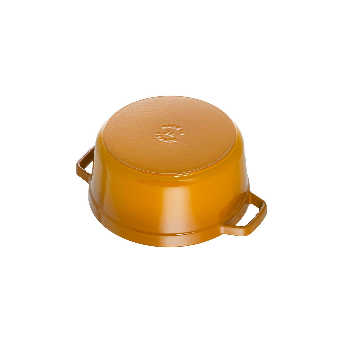 3.8 l Cast iron round Cocotte, mustard,,large 3