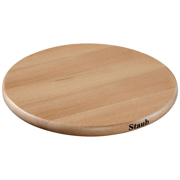 9-inch Round Magnetic Wood Trivet,,large