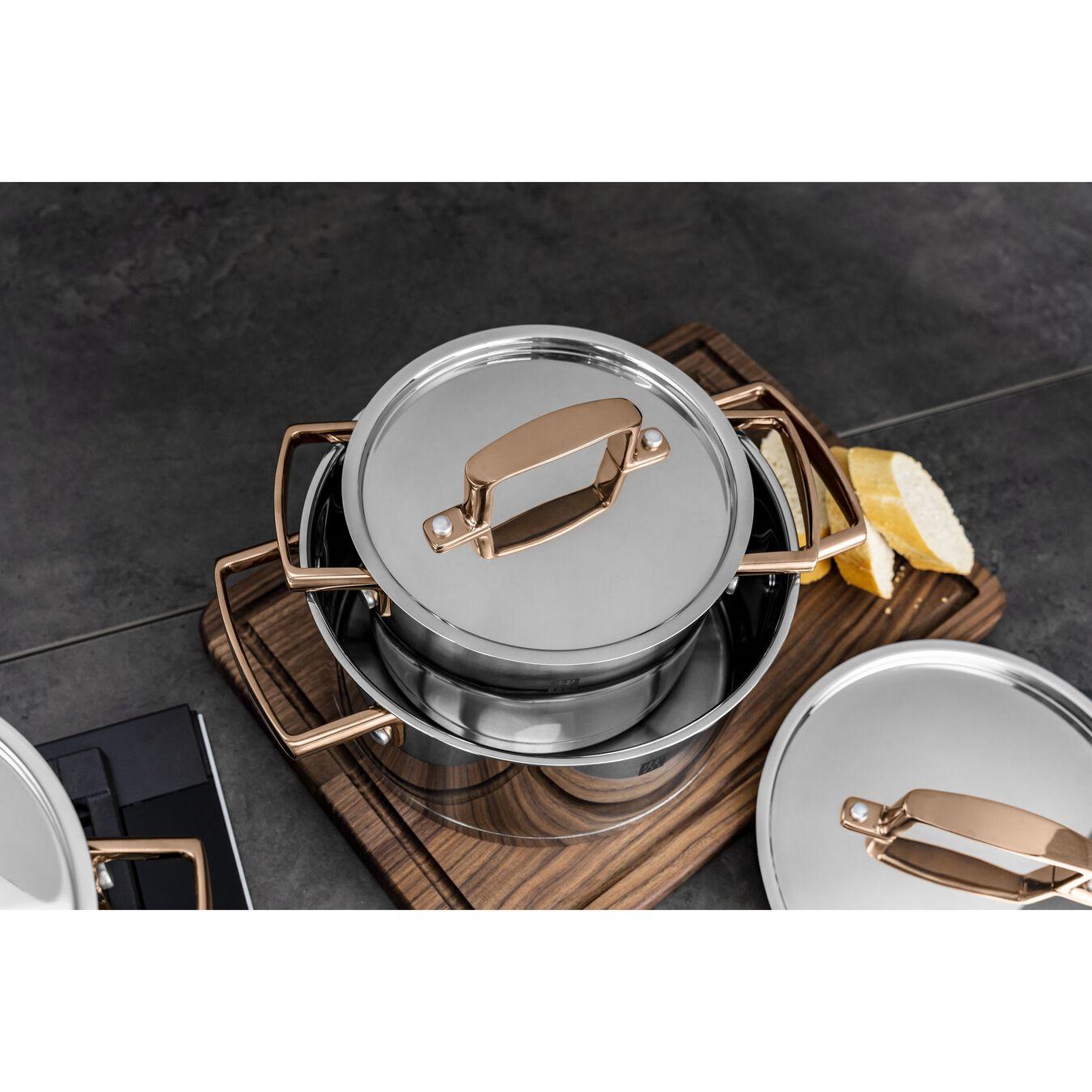 Set di pentole e padelle - 5-pz., 18/10 acciaio inossidabile,,large 9