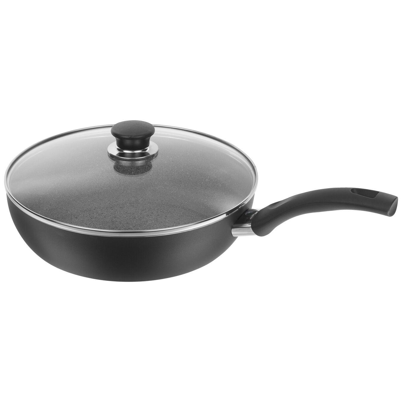 28 cm Aluminum Saute pan with glass lid,,large 1