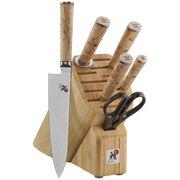 MIYABI Birchwood SG2, 7-pc Knife block set