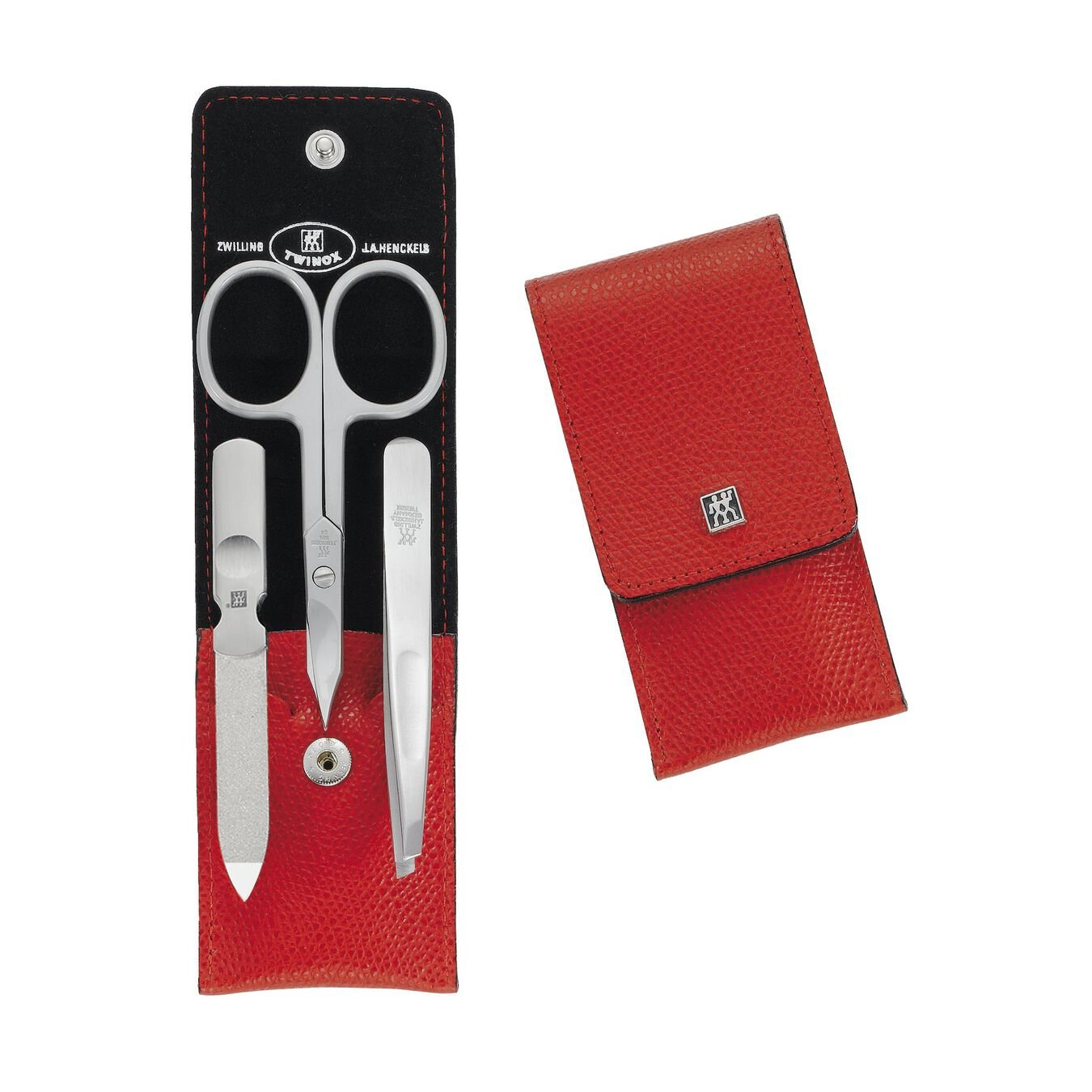 Snap fastener case, 3 Piece   special formula steel   red,,large 1