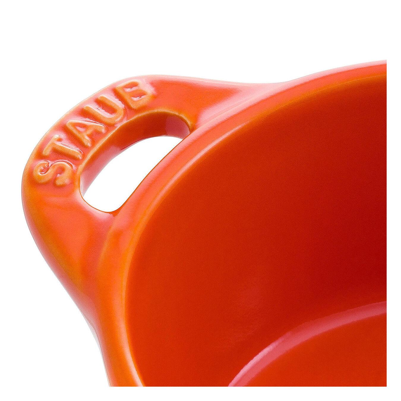 Mini Cocotte 10 cm, Rund, Orange, Stentøj,,large 4