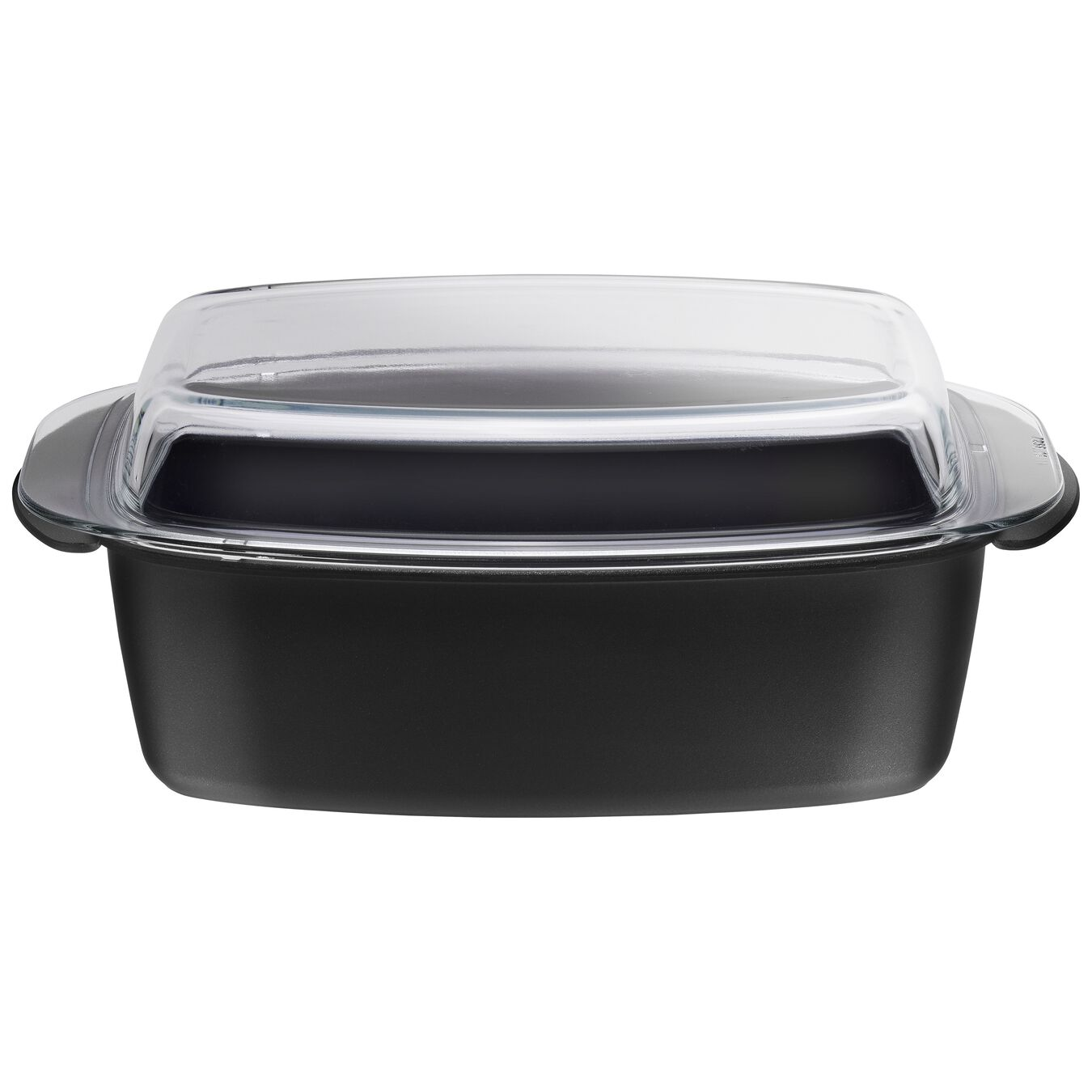 32 cm round Roaster with glass lid, black,,large 1