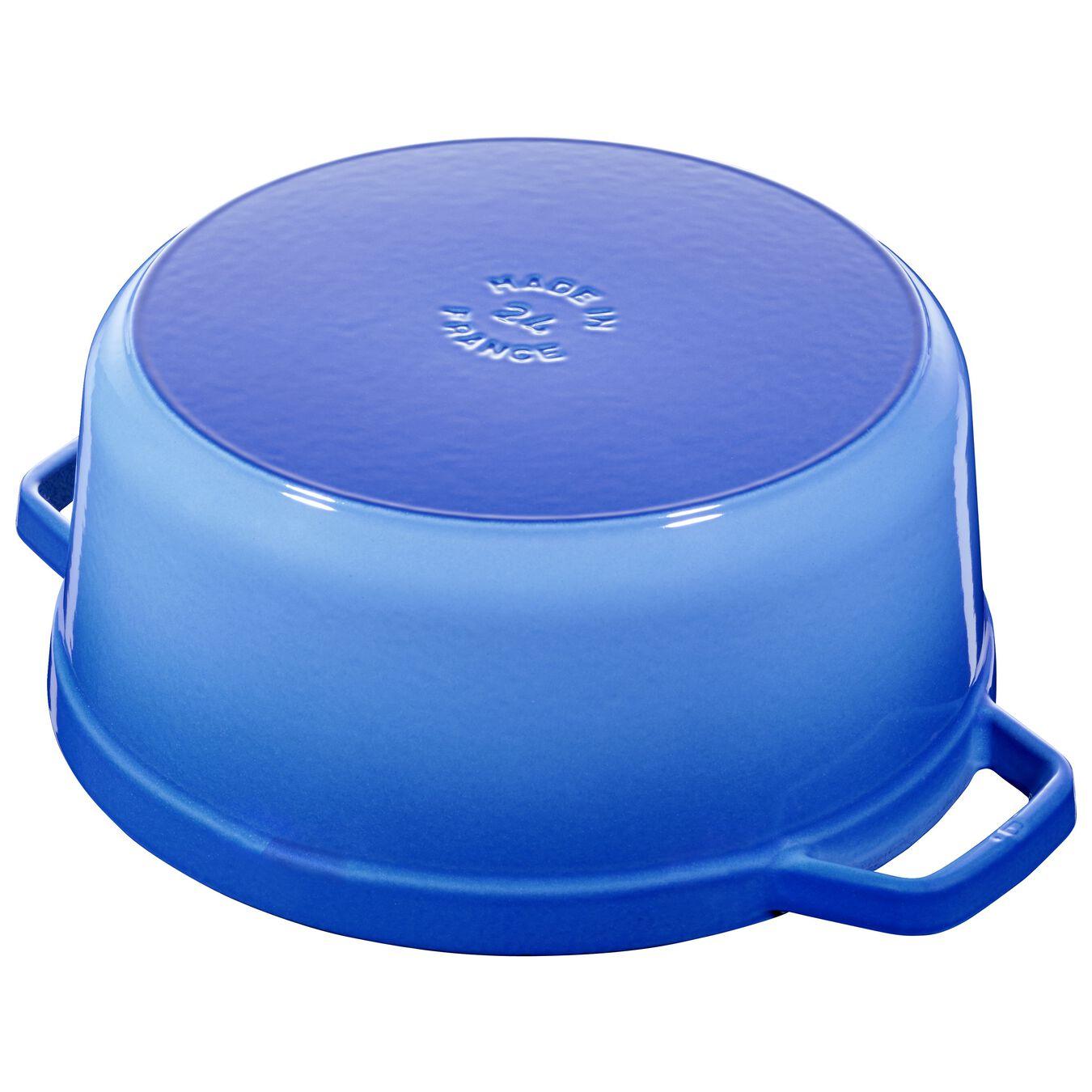 Cocotte 24 cm, Rond(e), Bleu roi, Fonte,,large 2