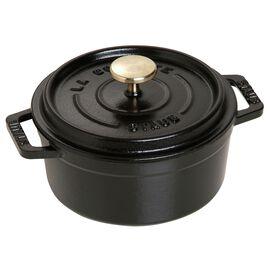 Staub Cast Iron, 0.43-qt round Cocotte, Black