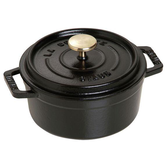 0.43-qt round Cocotte, Black,,large