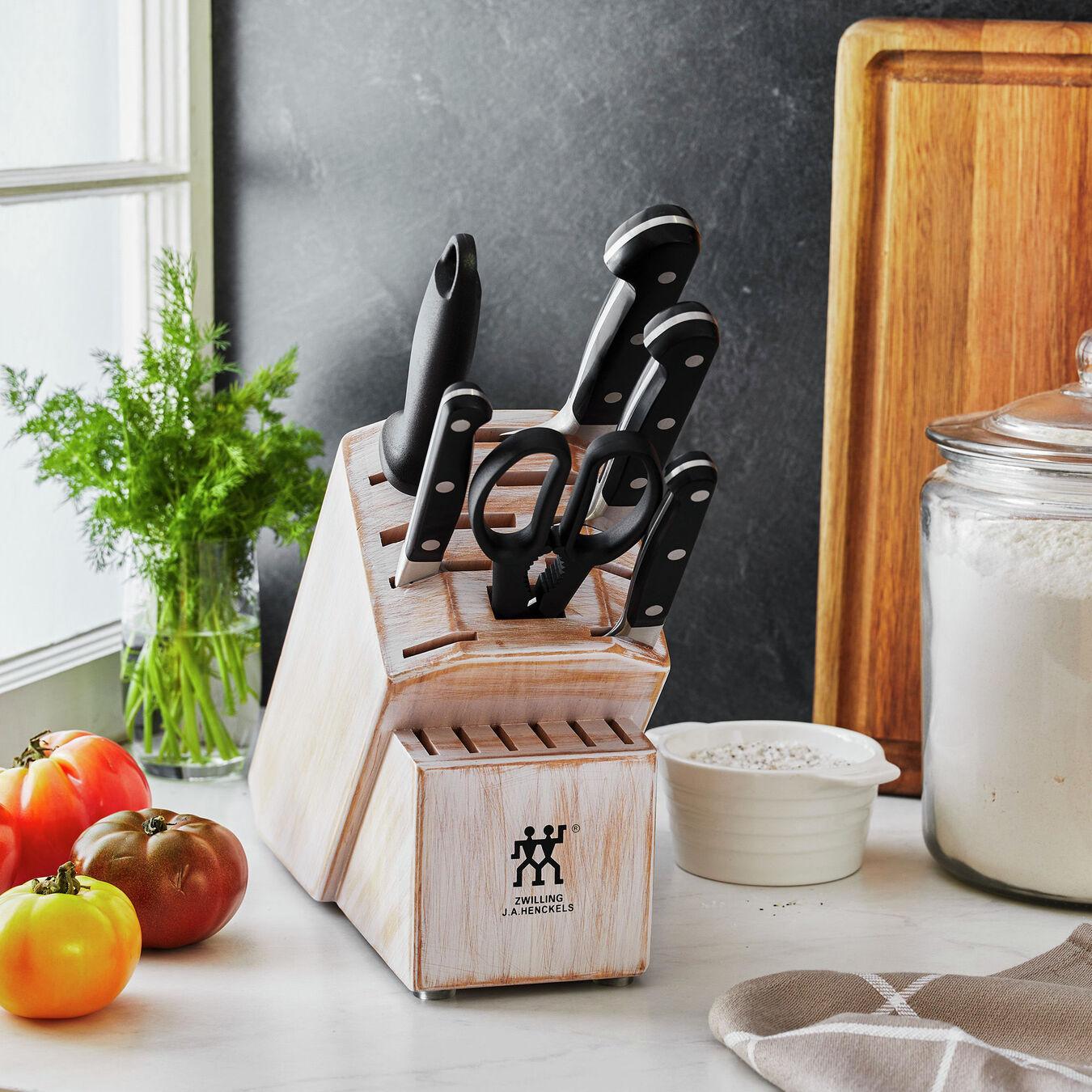 7-pc, Knife block set, rustic white,,large 8