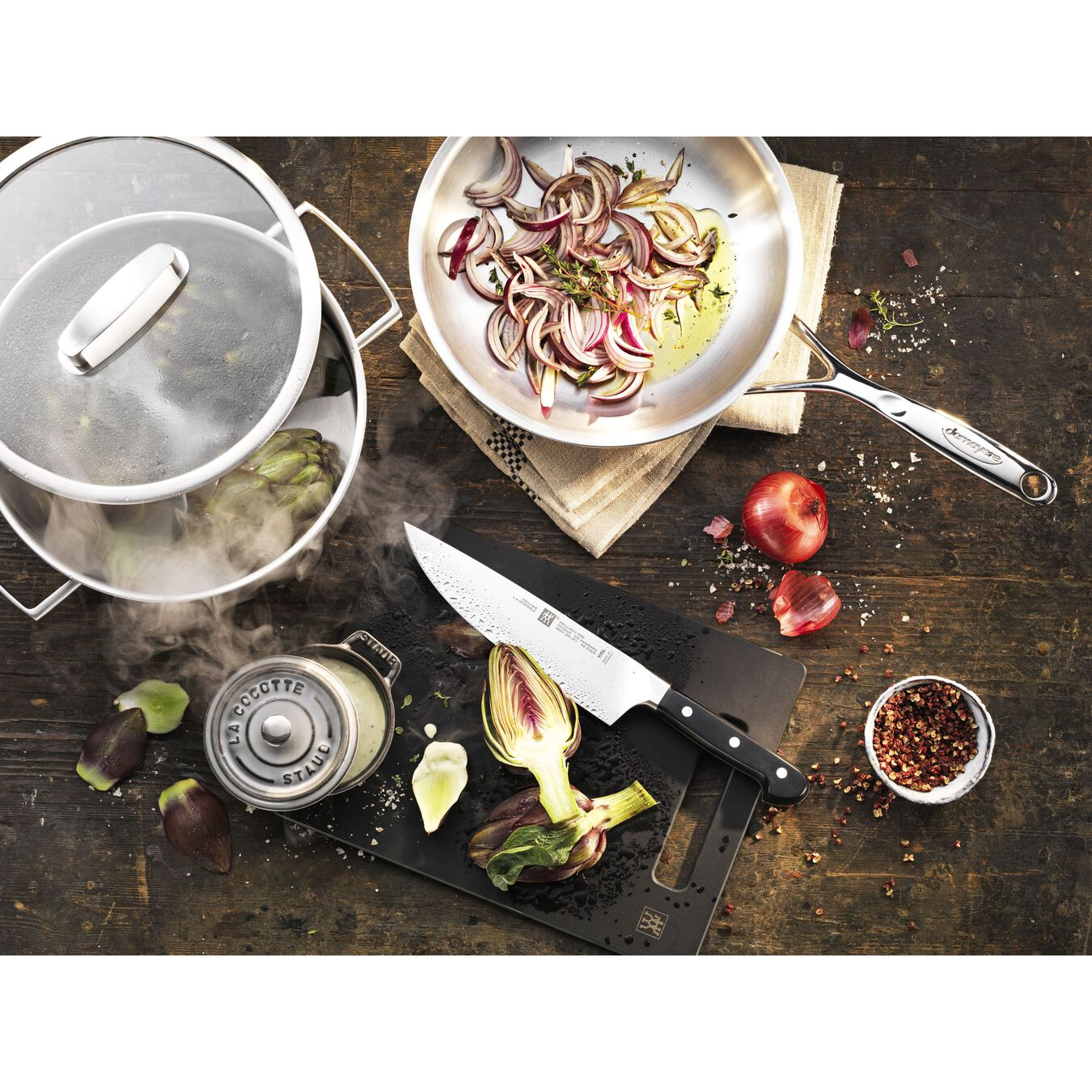 9.5-inch, 18/10 Stainless Steel, Frying pan,,large 3