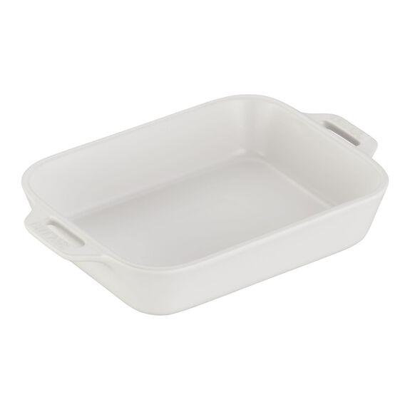 7.5x6-inch Rectangular Baking Dish, Matte White, , large