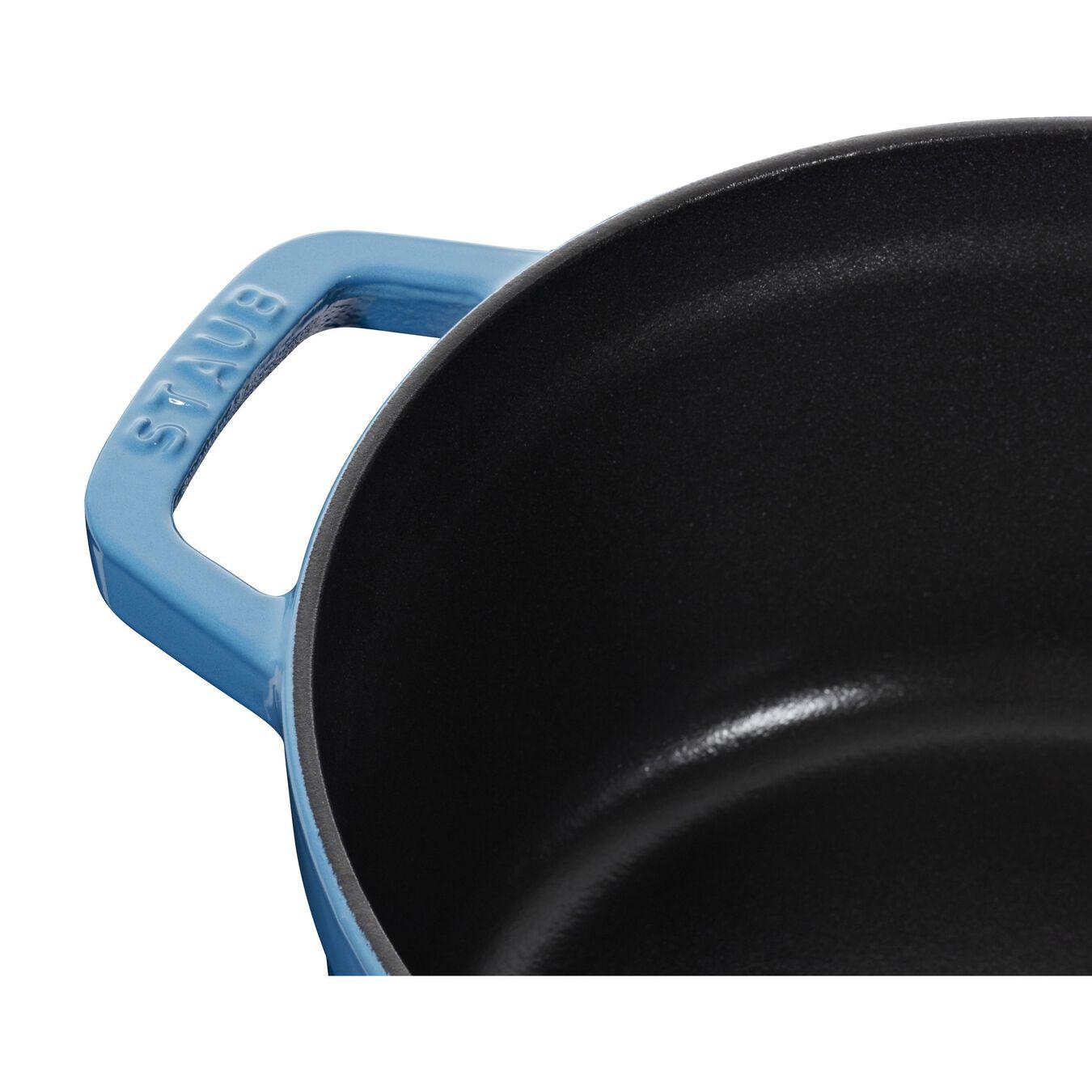 3.8 l Cast iron round Cocotte, ice-blue,,large 6