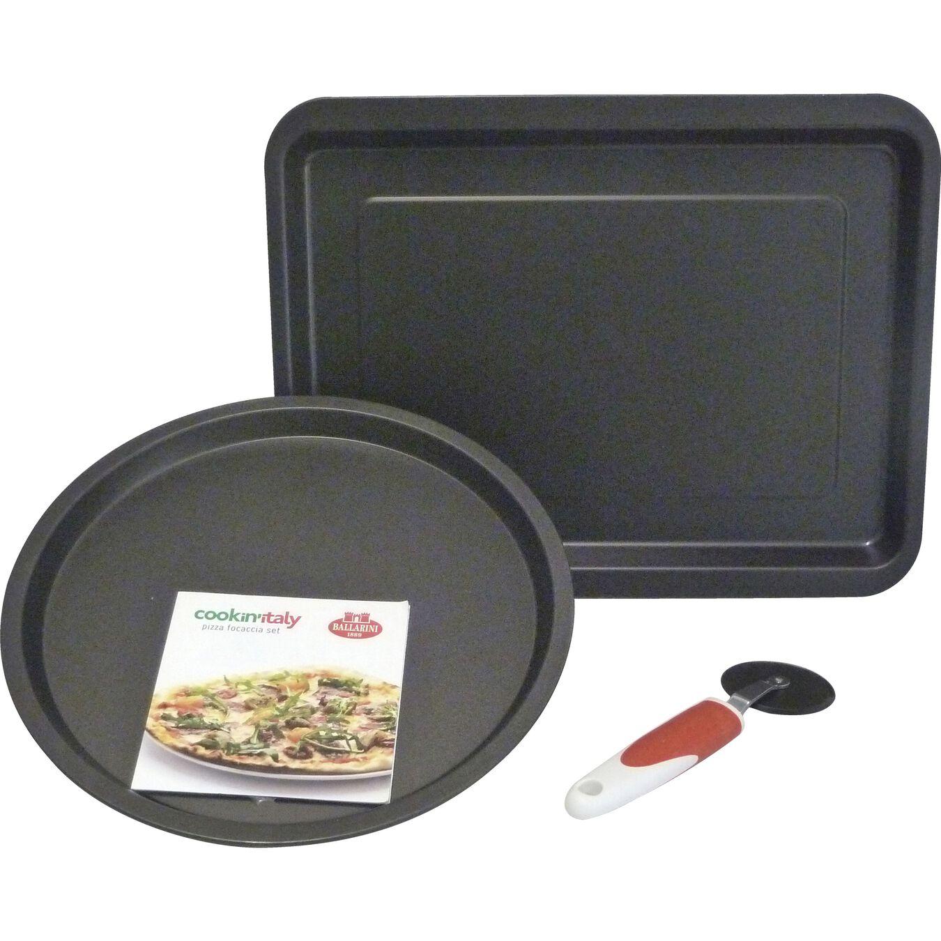 Ovenware set, 3 Piece | round | black,,large 1