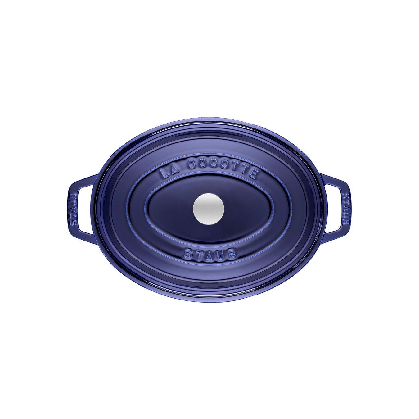 Cocotte 29 cm, Ovale, Bleu intense, Fonte,,large 2