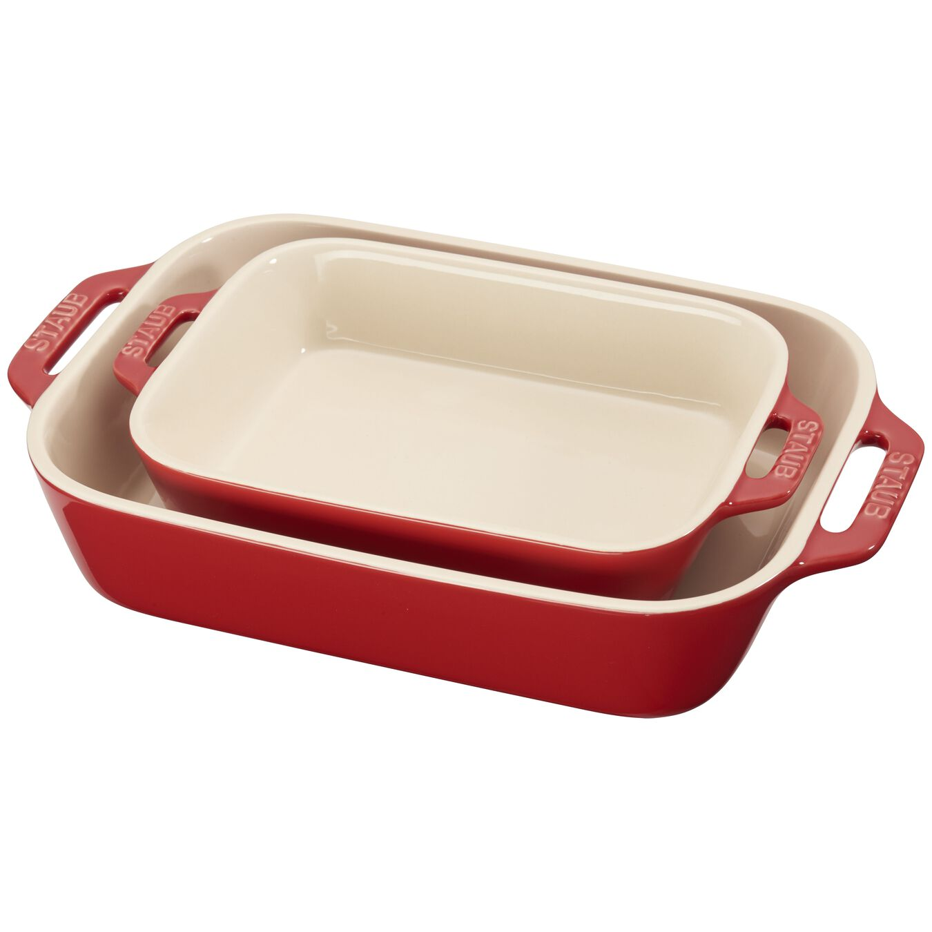 2-pc Rectangular Baking Dish Set - Cherry,,large 1