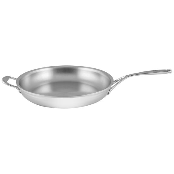 12.6-inch Stainless Steel Fry Pan with Helper Handle,,large