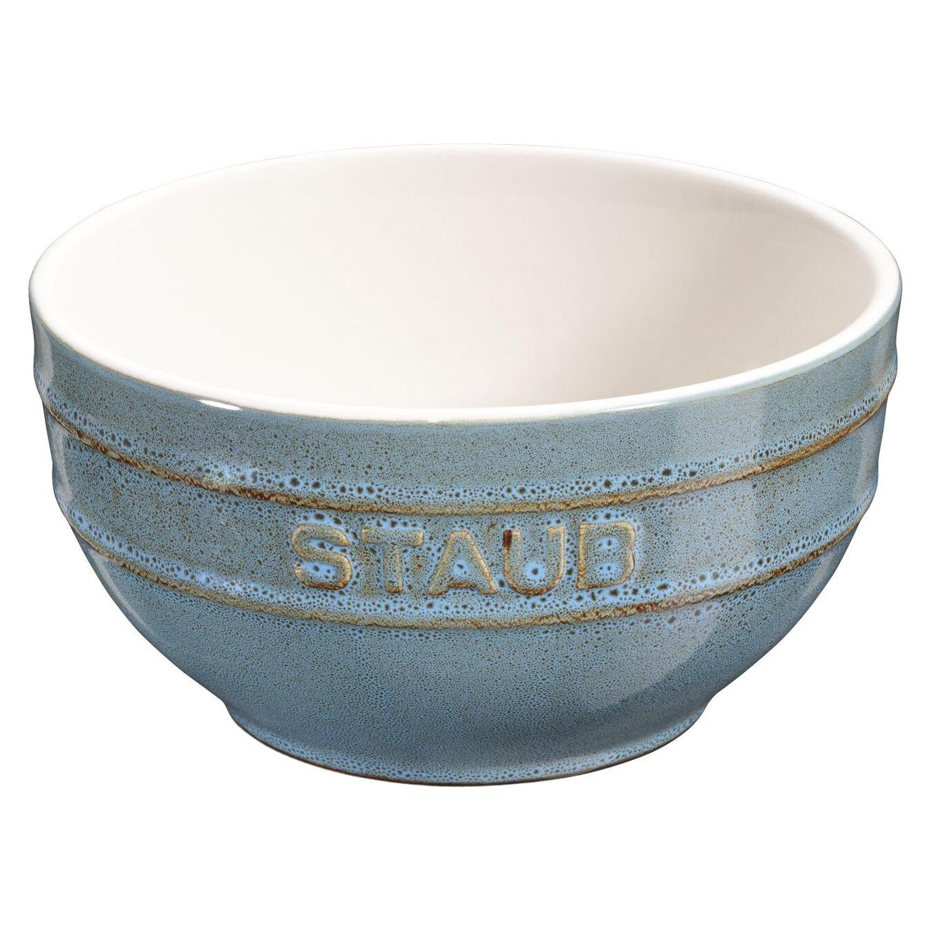 Bol 12 cm, Céramique, Turquoise antique,,large 1