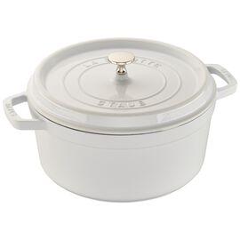 Staub Cast Iron, 5.5-qt Round Cocotte - White