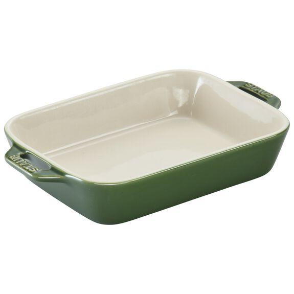 """7.5x6"""" Rectangular Baking Dish, Basil, , large"""