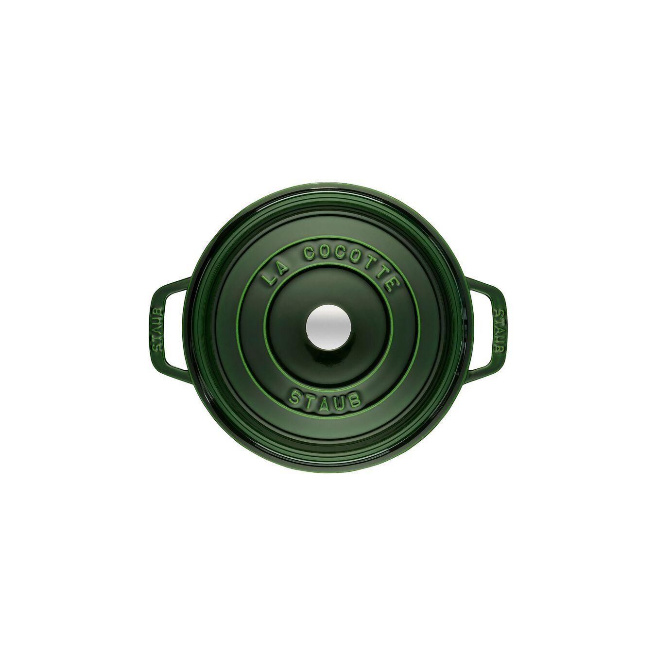 Cocotte 24 cm, rund, Basilikum-Grün, Gusseisen,,large 2