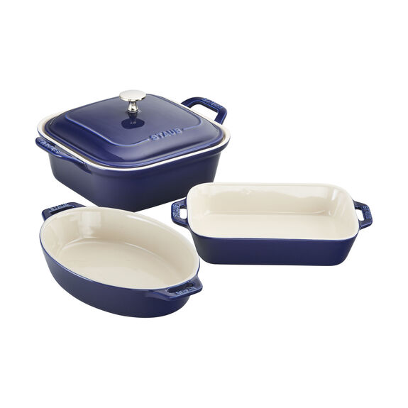 4-pc Baking Dish Set - Dark Blue,,large