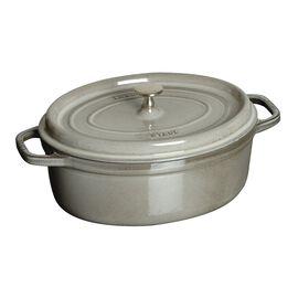 Staub Cast Iron, 1-qt Oval Cocotte - Graphite Grey