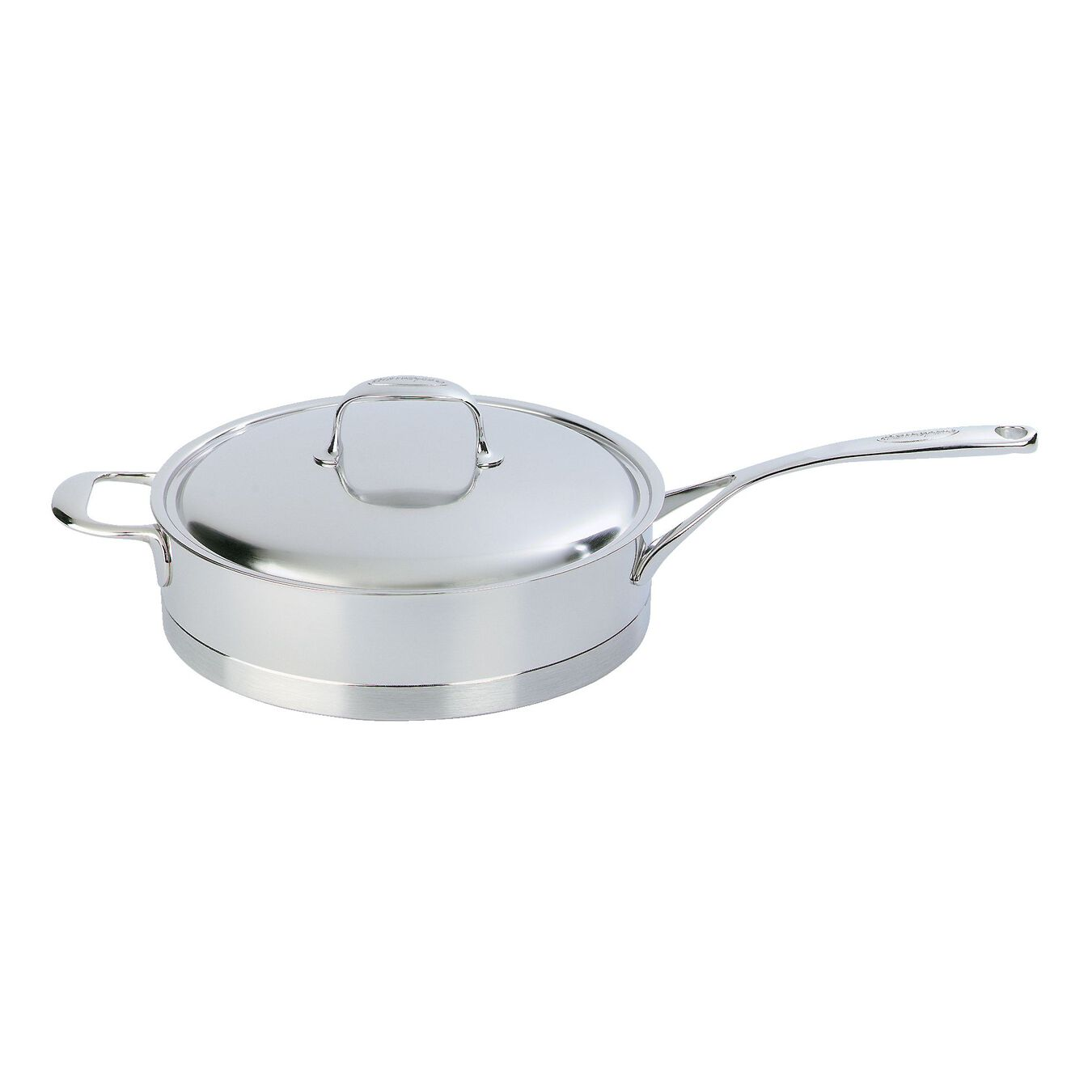 28 cm 18/10 Stainless Steel Saute pan with lid,,large 1