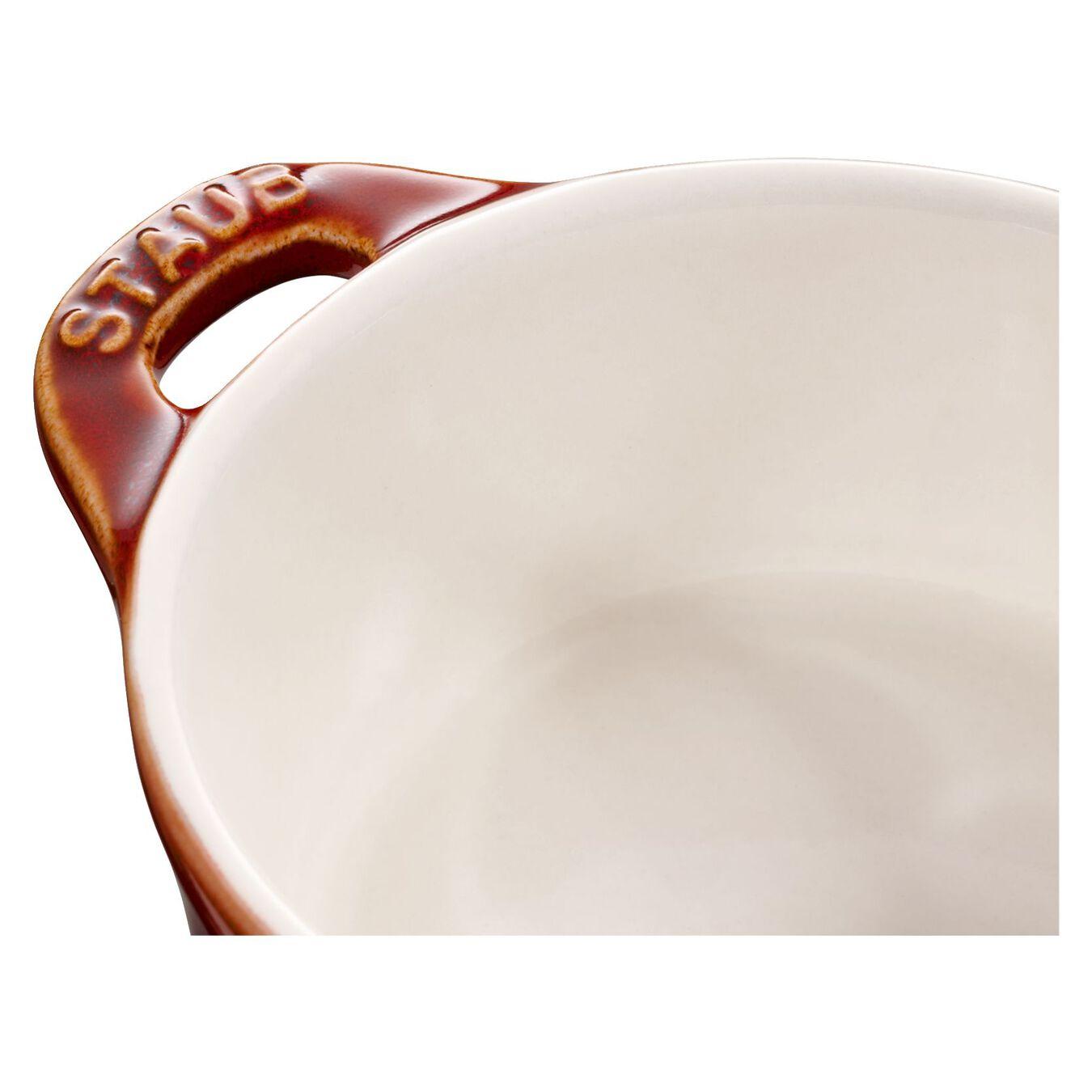 Minigryta 10 cm, Rund, Antik koppar, Ceramic,,large 2