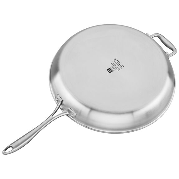 3-ply 14-inch Stainless Steel Ceramic Nonstick Fry Pan,,large 2