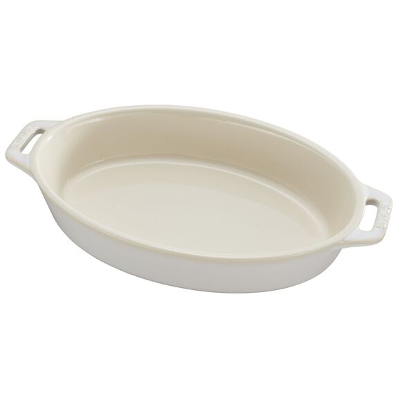 Ceramic Special shape bakeware, Ivory,,large 2