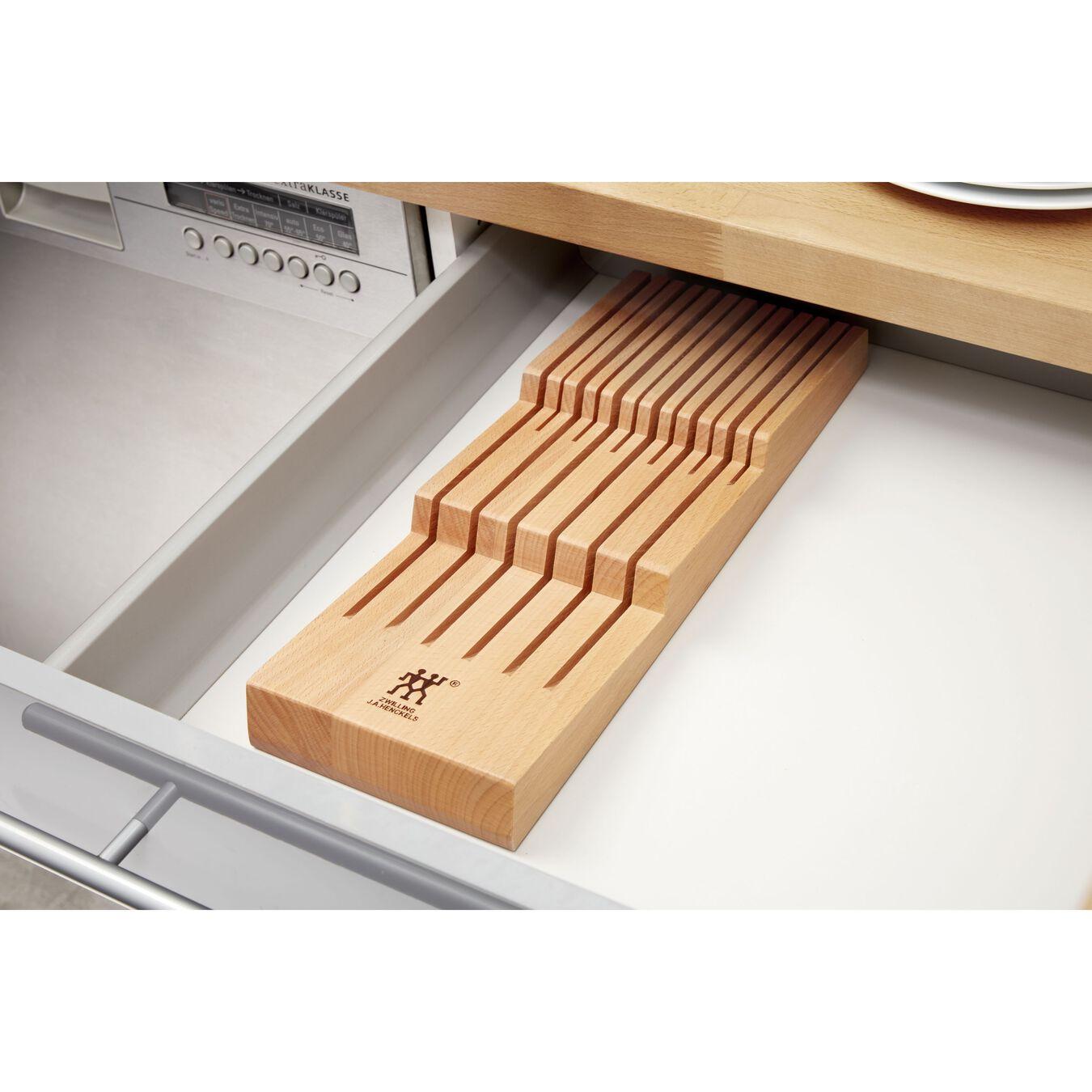 Schubladeneinsatz, bis zu 12 Messer, Buche,,large 4