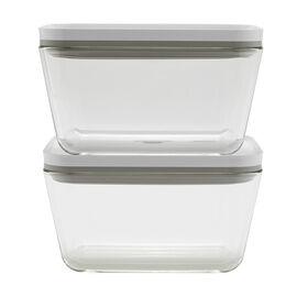 ZWILLING Fresh & Save,  2-pc Vacuum box set, Borosilicate glass, white