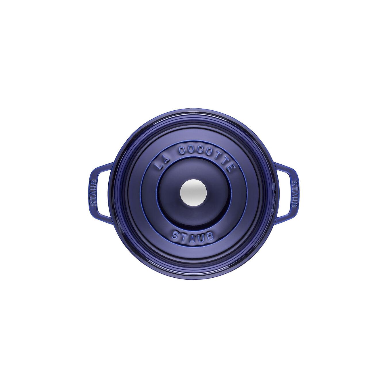 Cocotte rotonda - 22 cm, blu scuro,,large 2