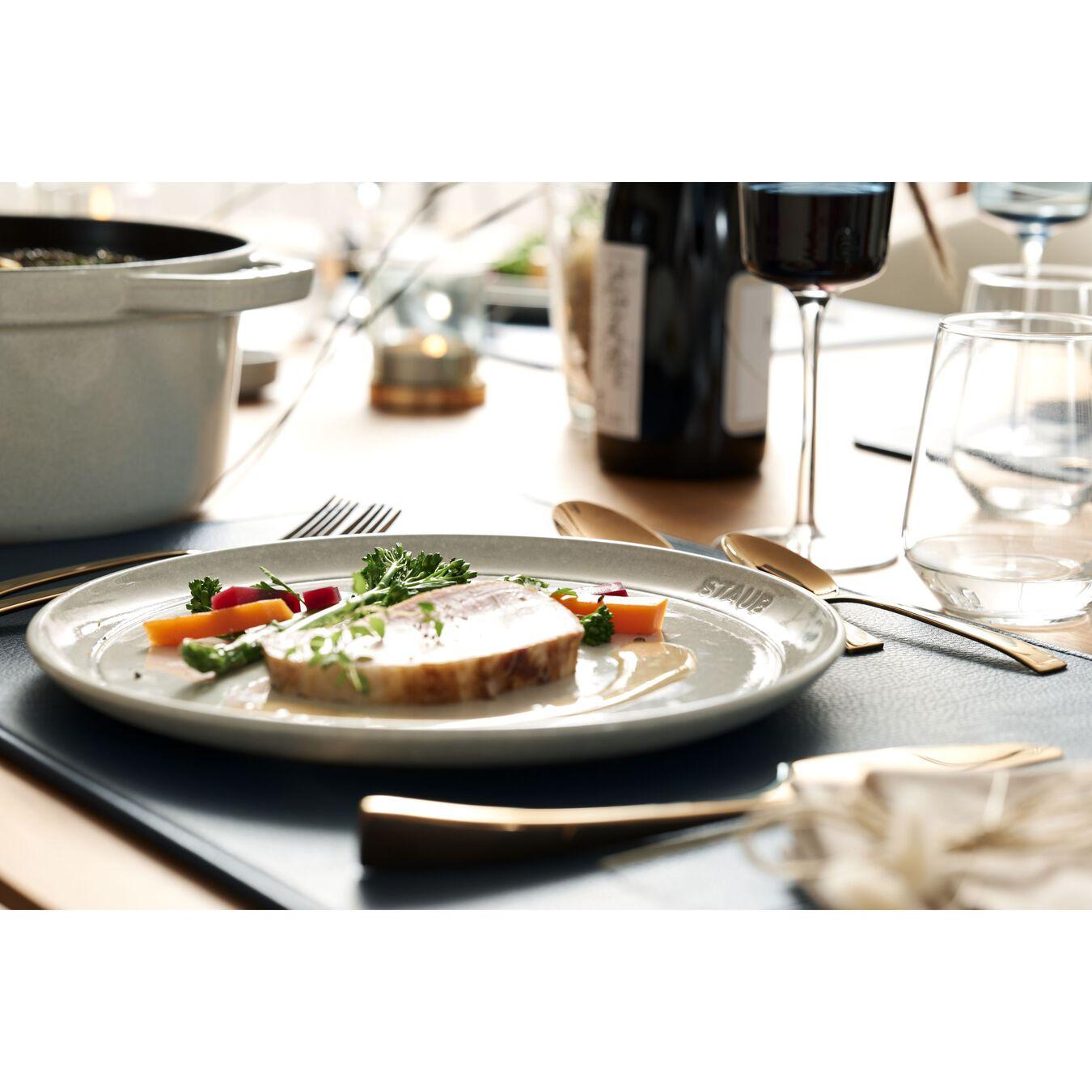 Piatto piano rotondo - 22 cm, tartufo bianco,,large 3