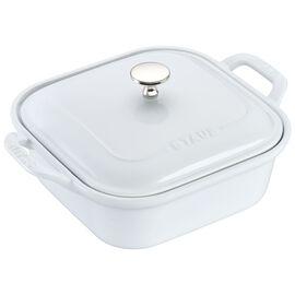 Staub Ceramics, 9-inch X 9-inch Square Covered Baking Dish - White