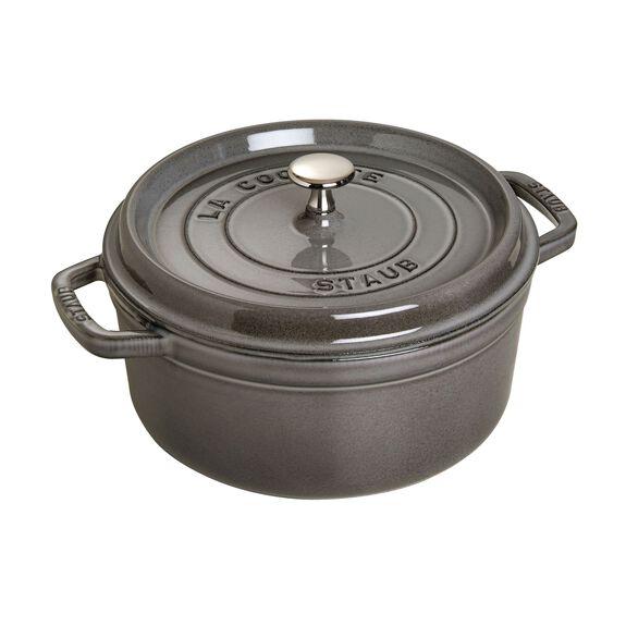5.5-qt-/-26-cm round Cocotte, Graphite-Grey,,large 2