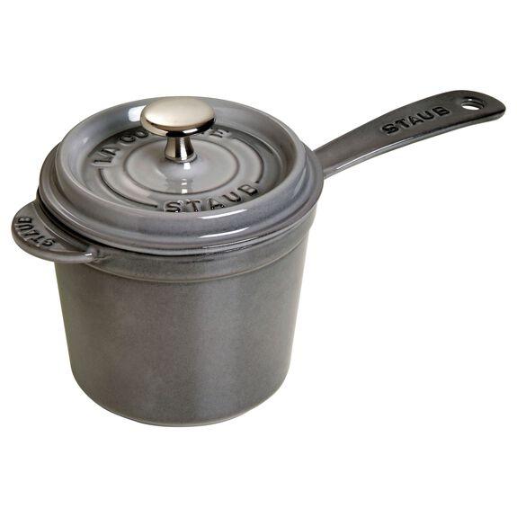 1.25-qt Cast iron Sauce pan, Graphite Grey,,large
