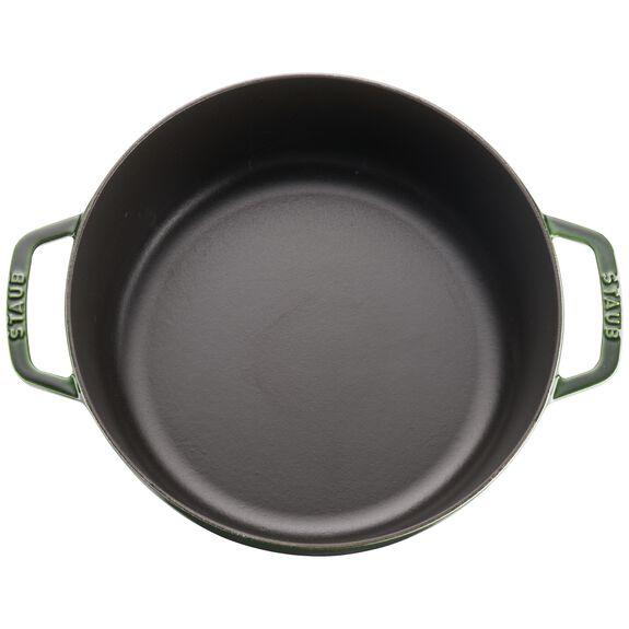 6-qt round Cocotte, Basil,,large 3