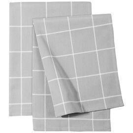 ZWILLING Textiles, Küchenhandtuch Set kariert, 2-tlg   Grau
