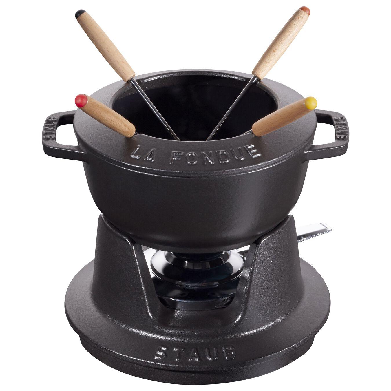 Service à fondue 16 cm, Noir, Fonte,,large 1